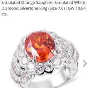 Jewelry - Beautiful Simulated Orange Sapphire Ring